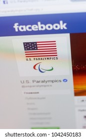 Ryazan, Russia - March 09, 2018: Facebook page of U.S. Paralympics.