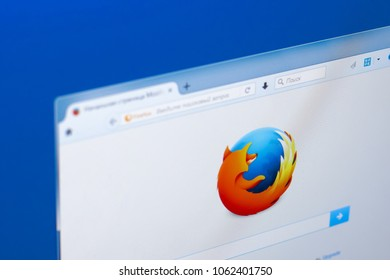 Ryazan, Russia - March 28, 2018 - Mozilla Firefox browser on a display of PC.