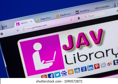 Ryazan Russia May 13 2018 Javlibrary Website On The Display Of Pc