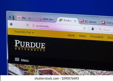 Ryazan, Russia - May 13, 2018: Purdue website on the display of PC, url - Purdue.edu.