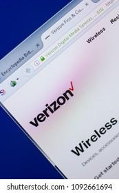 Ryazan, Russia - May 13, 2018: Verizon website on the display of PC, url - Verizon.com.