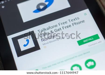 Ryazan Russia May 16 2018 Talkafone Stock Photo (Edit Now