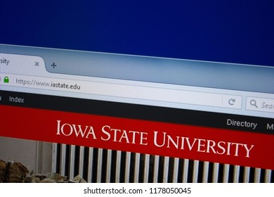 Ryazan, Russia - September 09, 2018: Homepage of Iastate website on the display of PC, url - Iastate.edu