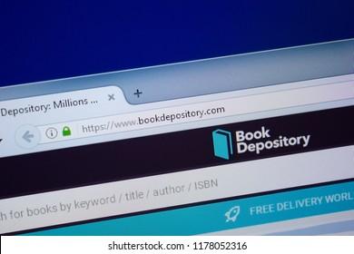 Ryazan, Russia - September 09, 2018: Homepage of Book Depository website on the display of PC, url - BookDepository