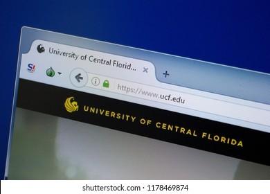 Ryazan, Russia - September 09, 2018: Homepage of Ucf website on the display of PC, url - Ucf.edu