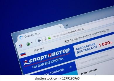 Ryazan, Russia - September 09, 2018: Homepage of Sport Master website on the display of PC, url - SportMaster.ru