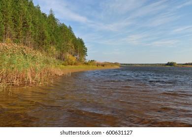 Rybinsk reservoir landscape