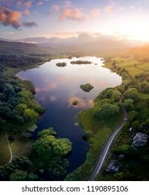 Rydal Water at sunset, Lake District