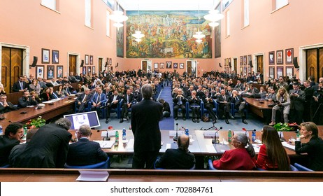 Ryder Cup Rome 2022, press conference in Rome at the Honour's Hall of the Italian Olympic  National Committee - december 2015