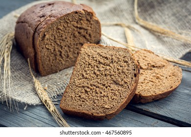 Rye bread with ears of barley