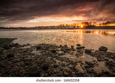 Rye Harbor Sunset, New Hampshire