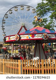 RYE, NY - JUN 3: Playland Park in Rye, New York, as seen on Jun 3, 2018. The park was built in 1928.