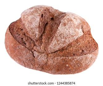 Rye wheat bread isolated on a white background
