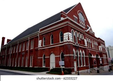 The Ryman Auditorium in Nashville, TN