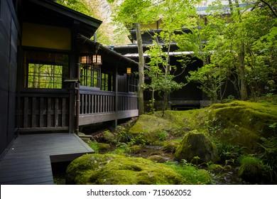 Ryokan onsen Japanese traditional hotel