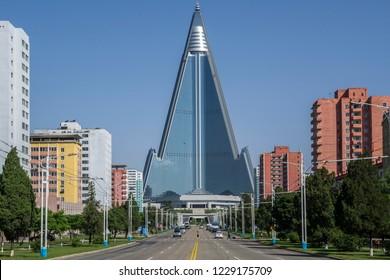 Ryugyong Hotel, Pyongyang, North Korea, May 22, 2018