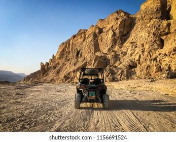 RZR (Razer) trip on a Judean Desert road, Israel