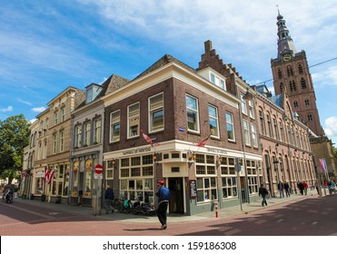 S HERTOGENBOSCH, THE NETHERLANDS - July 23: Unidentified people in the center of s Hertogenbosch, The Netherlands on July 23, 2011. s Hertogenbosch is the capital of the province of Northern Brabant