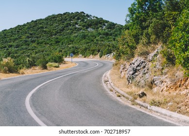 S shaped road, Zaton, Sibenik, Croatia