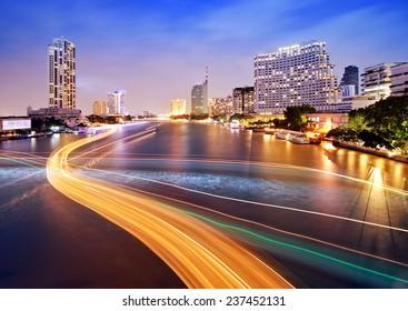 Sa phan Taksin Station, Taksin Bridge Thailand