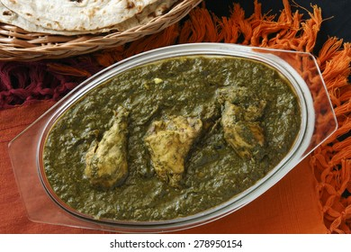 Saag Chicken it is a north Indian vegetable