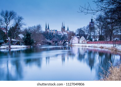 Saale Unstrut Germany Saxony-Anhalt Sachsen-Anhalt Merseburg Dom Schloss Cathedral Winter Snow