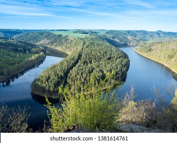 """""""Saaleschleife"""" in Thuringia East Germany"""