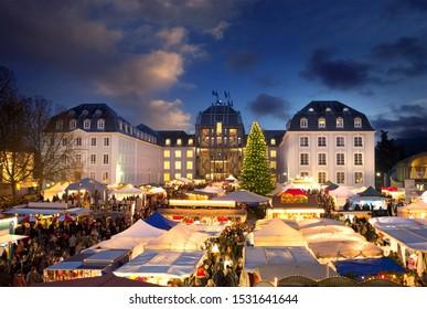 Saarbrücken Saarland Traditional Chirstmas Market in front of Saarbrücker Schloss