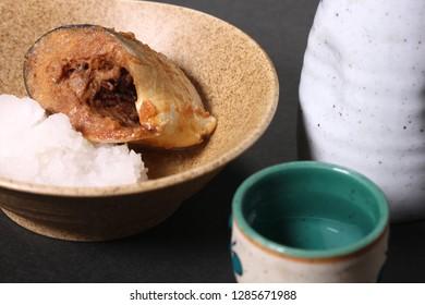 Saba fish simmered miso and Sake