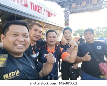 Sabah Malaysia.May 30, 2019 : Street scene during Pesta Kaamatan in Hongkod Koisaan KDCA, Penampang. Pesta Kaamatan or Harvest Festival is a major celebration in Sabah.