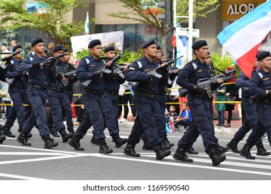 SABAH, MALAYSIA – 31 AUGUST 2018; Merdeka Day celebration is held in commemoration of Malaysia's Independence Day at Jalan Tun Fuad Stephen; one of the most colorful events celebrated annually.