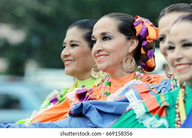 Sabah, Malaysia. August 15,2015: Mexican dancers greeting public audience during Sabah International Folklore Festival. SIFF offers audience the uniqueness of dances from various ethnics of the world.