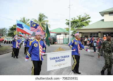 SABAH, MALAYSIA, AUGUST 31, 2017 - Malaysia National Day Parade from all government agency. Hari Merdeka (Malaysian for 'Independence Day'), also known as Hari Kebangsaan (National day)