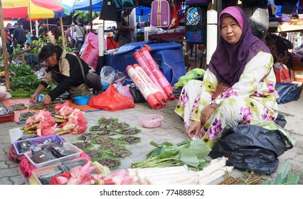 Sabah, Malaysia. December 7, 2017: Local seller at a 'Tamu'. 'Tamu' is an open market found in Sabah where the locals sells products and has become one of tourist attraction to Sabah.