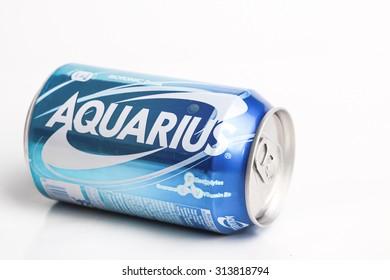 SABAH, MALAYSIA - JANUARY 09, 2015: Aquarius, Japanâ??s No.1 Isotonic drink