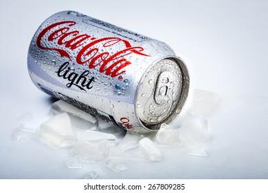 SABAH, MALAYSIA - March 25, 2015: Coca-Cola Light Can.