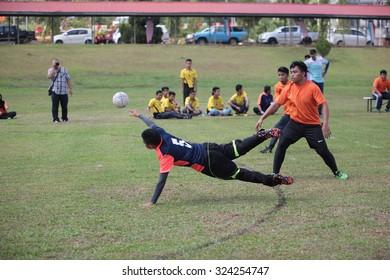 SABAH, MALAYSIA = SEPTEMBER 20 2015 : School handball tournament.