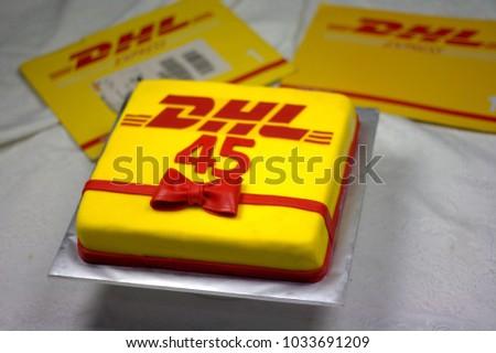 Sabah Malaysia February 23 2018 DHL Company Stock Photo