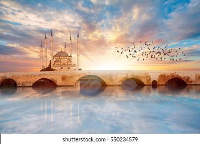 Sabanci Central Mosque - Adana Turkey.