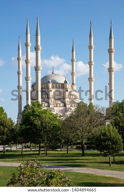 Sabanci Central Mosque Central Park Adanaturkey Stock Photo Edit Now 1404894665