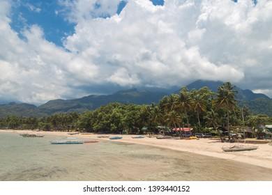 Sabang beach in Palawan island, Philippines