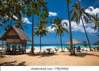 Sabang beach, Puerto Princesa, Palawan island. Philippines .