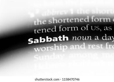 sabbath word in a dictionary. sabbath concept.