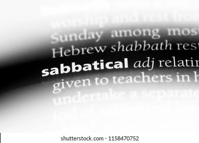 sabbatical word in a dictionary. sabbatical concept.