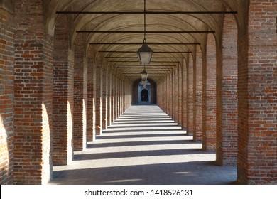 Sabbioneta, Mantua/Italy - 06/02/2019: The Gallery of the Ancients