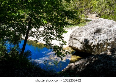 Sabinal River inside Lost Maples State Natural Area in the Texas Hill Country