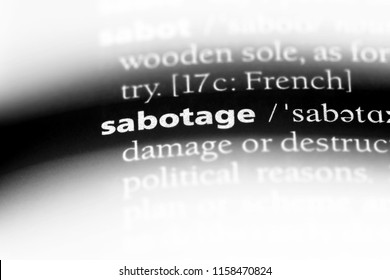 sabotage word in a dictionary. sabotage concept.