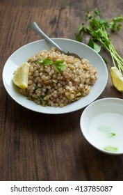 Sabudana Khichadi - An authentic dish from Maharashtra made with sago seeds.