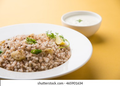Sabudana Khichadi - An authentic dish from Maharashtra made with sago seeds, served with curd