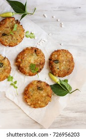 Sabudana Vada / Sago Tapioca pearl fritters - Indian Navratri fasting  food